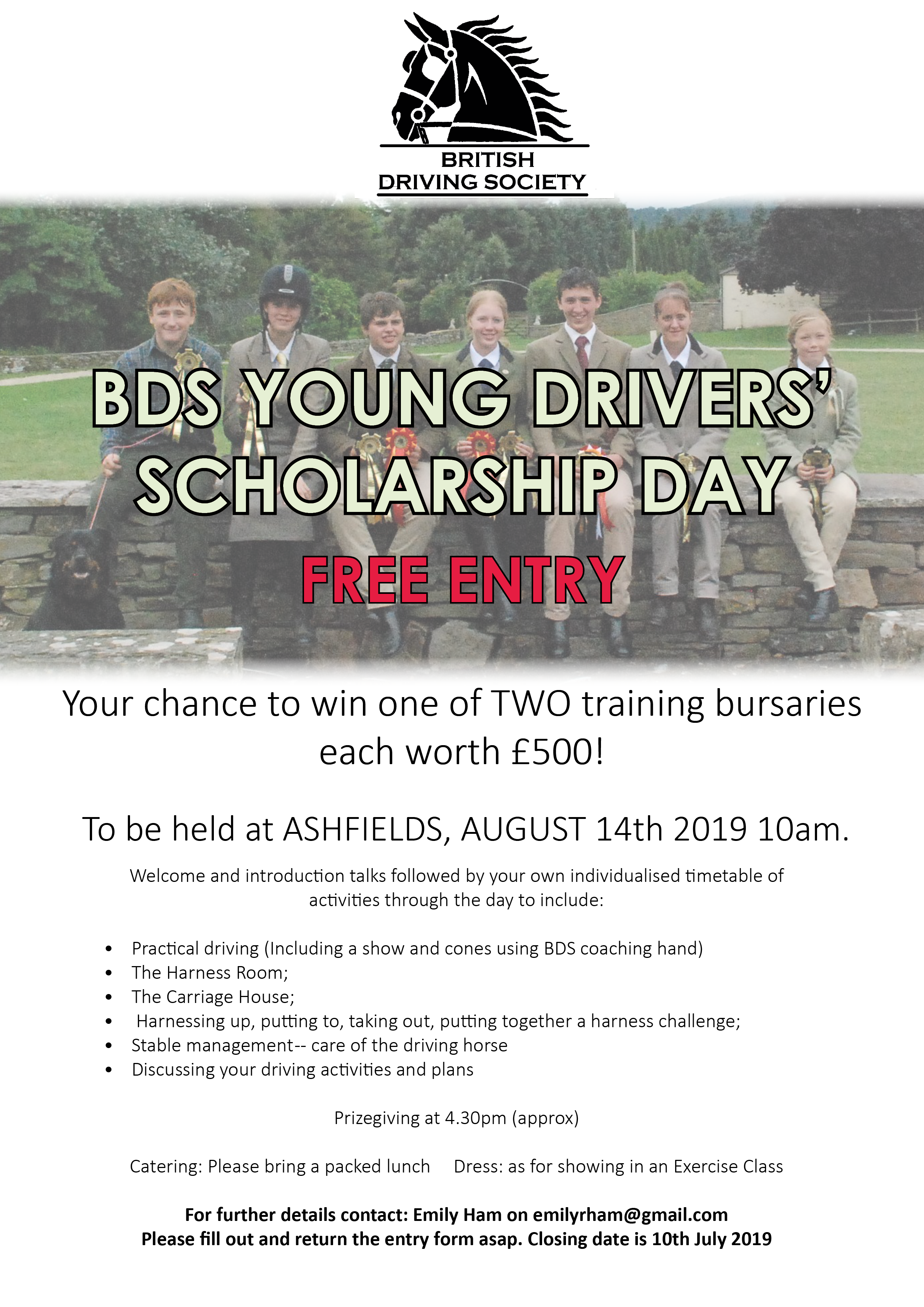 The Brian Sims BDS Young Drivers Scholarship 2019 - British